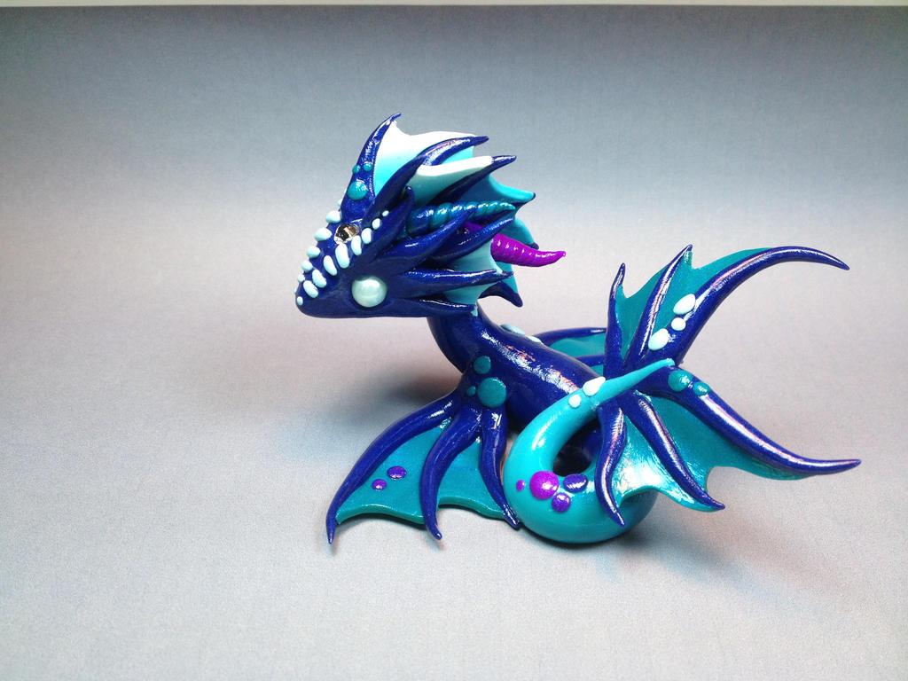 Polymer Clay Commission - Sea Dragon by ShaidySkyDesign