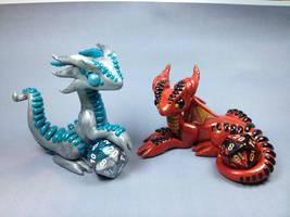 Polymer Clay Dice Dragons by ShaidySkyDesign
