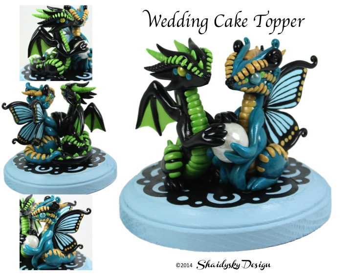 Butterfly Dragon with Egg Wedding Cake Topper by ShaidySkyDesign on ...