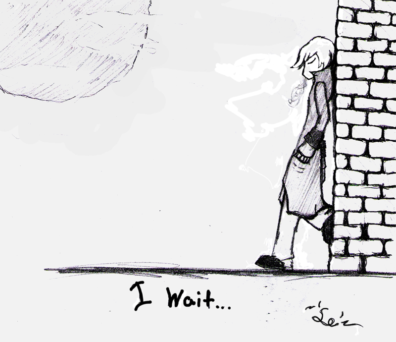 i wait by SerriDeLioness