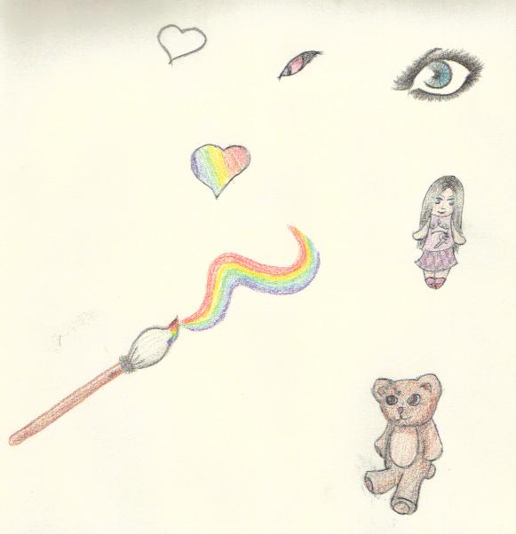 Rainbow Paint by SerriDeLioness