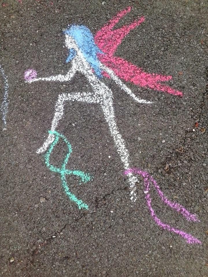 Chalk Fairy by SerriDeLioness