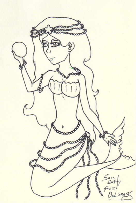Pearl Mermaid by SerriDeLioness