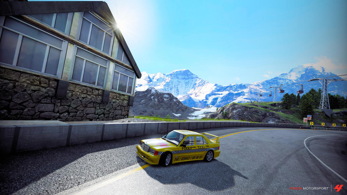 Fugly Taxi in Forza 4 Big Shot Photo mode by Oatmeal25