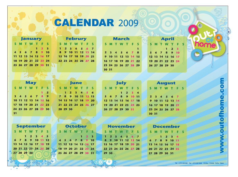 2009 Calendar  U0130llustration Artwork