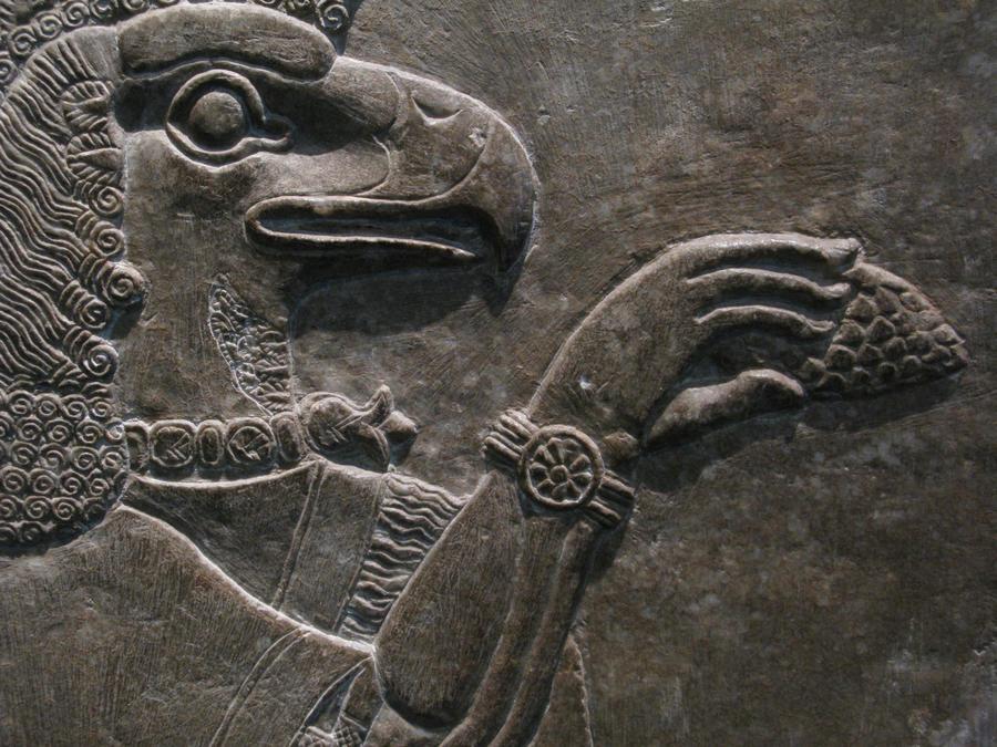 Eagle-headed Protective Genie by FalseMaria