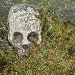 Slab tombstone detail.