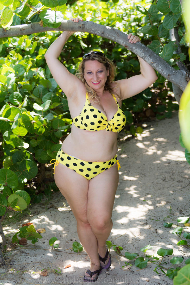 It was an itsy bitsy yellow polka dot bikini