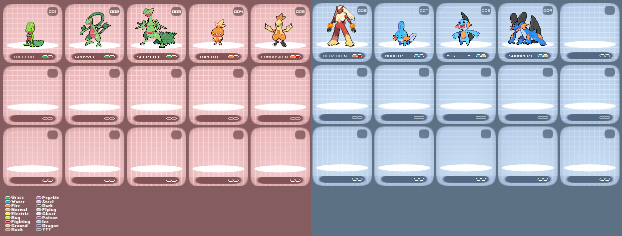 Pokemon RBIS SpriteDex by harikenn