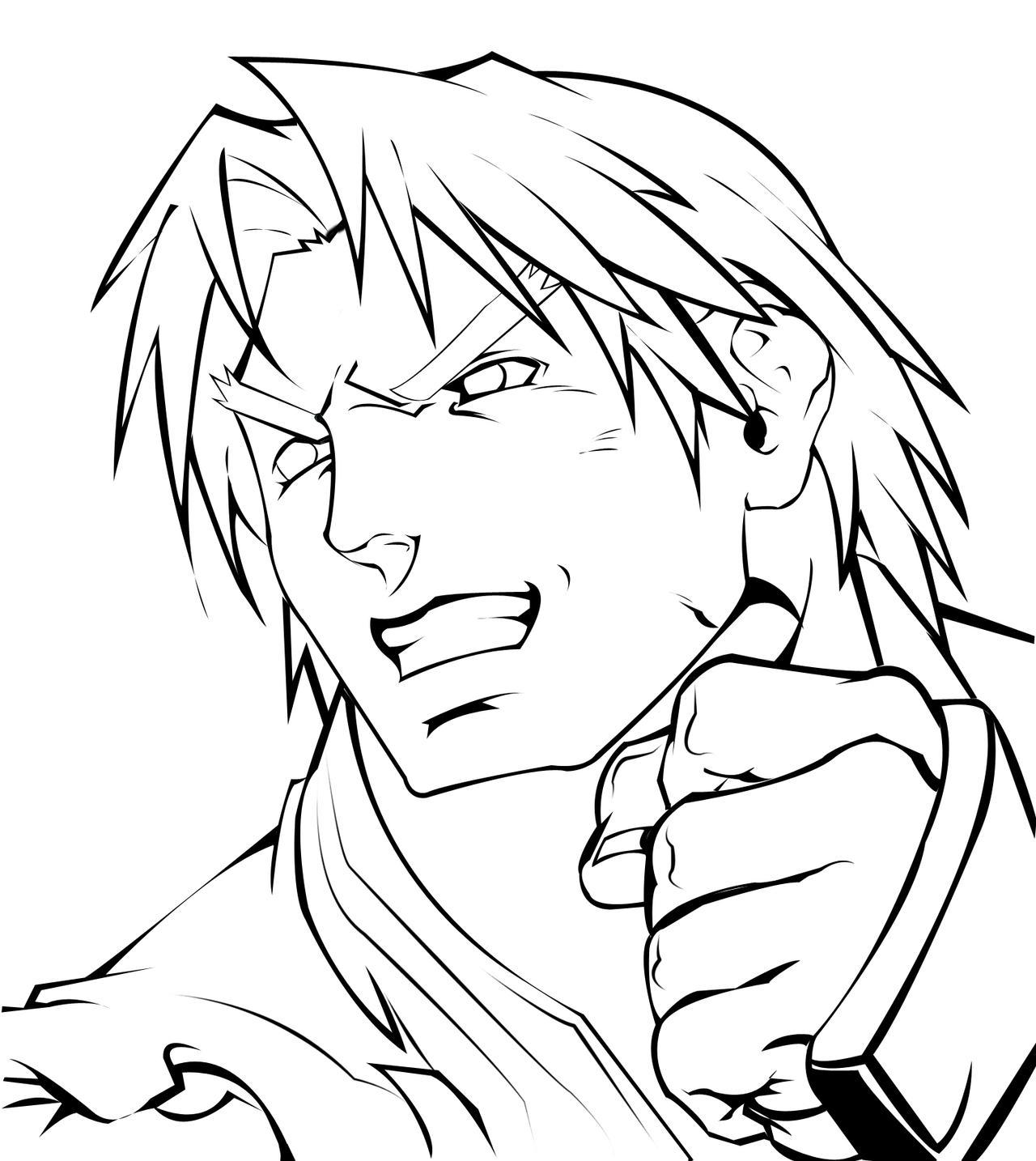 Line Drawing Artist Research : Ken line art by gokusuke on deviantart