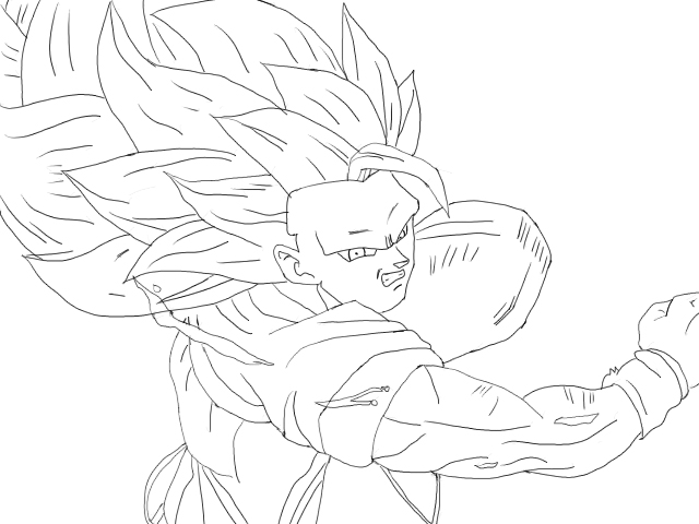 Vegeta Para Colorear Baby Para Goku Y Vegeta Para Pintar: Goku+ssj4+para+colorear