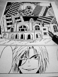 First page of my new manga Fallen from Grace