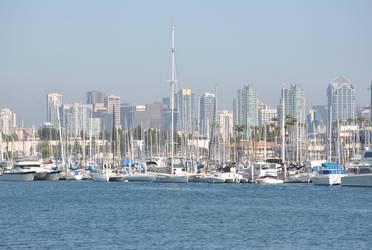 Harbor skyline by suteki1