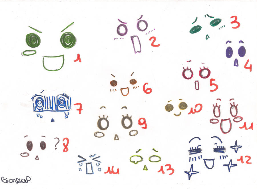 chibi expressions by Kanzaki-chanChibi Expressions