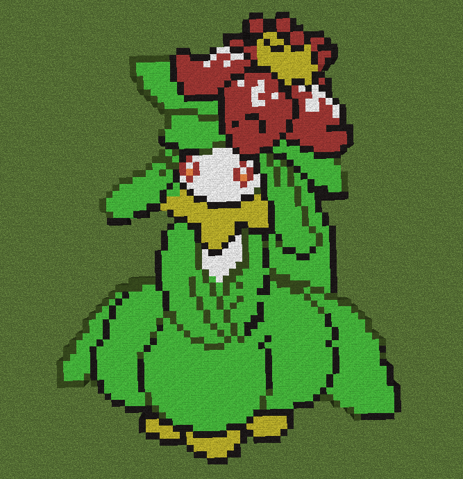 Minecraft Pixels: Lilligant by Moss-Stone