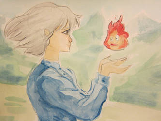 Sophie and Calcifer by lingering-lunacy