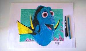 Finding Dory - drawing