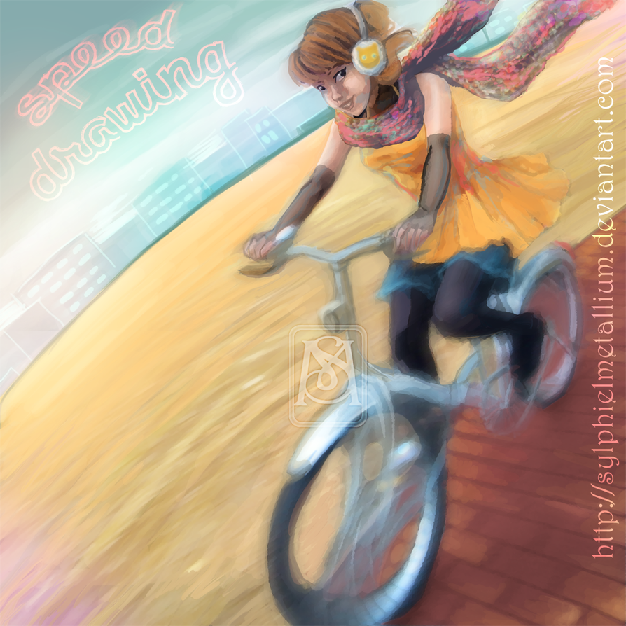 Speed drawing-Me on my bicycle by *sylphielmetallium on deviantART