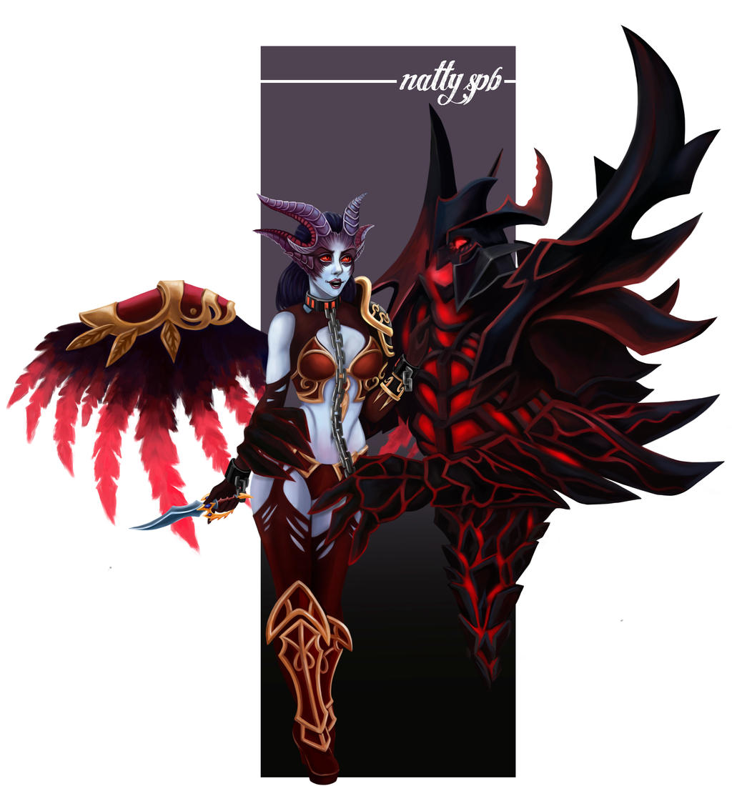 queen of pain and shadow fiend dota 2 by nattyspb on deviantart