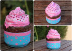 Cupcake box from recycled materials ~with tutorial by purpleniya