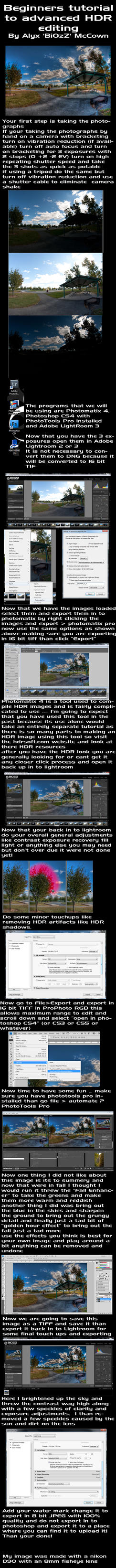 HDR tutorial by BiOzZ