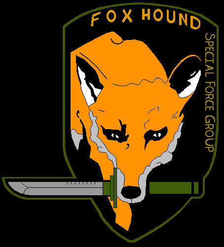 foxhound logo colored by atomicnuclearwinter on deviantart