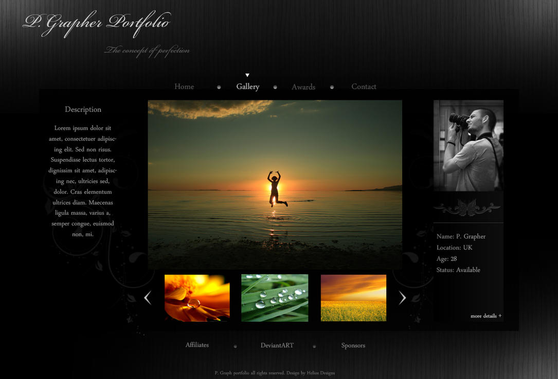 Photographer Portfolio by HD by arscube
