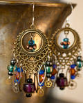 Steamy.Earrings of the Gypsy Variety