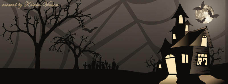 Haunted House Halloween Facebook Cover by CrystalKittyCat on ...