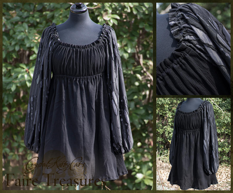 Black and Silver Renaissance Chemise by CrystalKittyCat