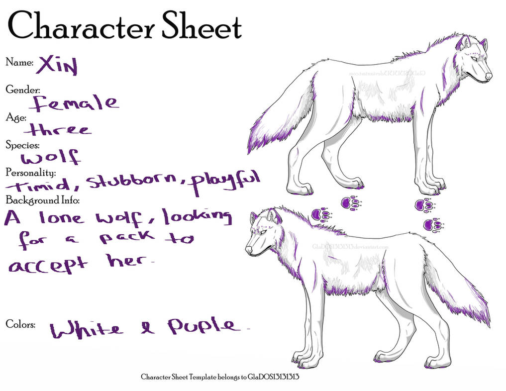 Wolf Character Sheet Template By Glados13131313-d3 by