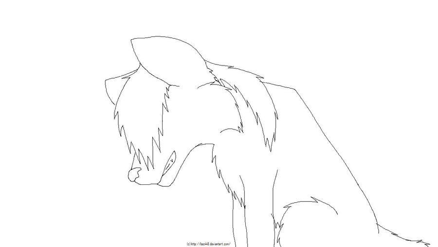 Sad Wolf Drawing Sad Wolf Lineart