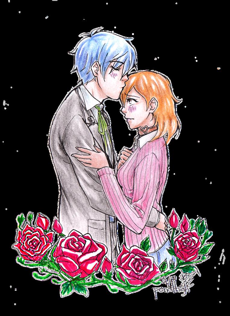 P3: MinaYuka on Roses by pencilhigh