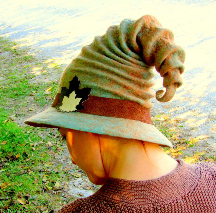 Felted Wizard Hat by HandiCraftKate