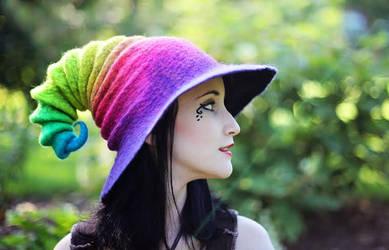 Neon Rainbow Wizard/Witch Hat