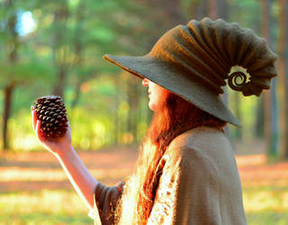 The Brown Witch / Wizard Hat by HandiCraftKate
