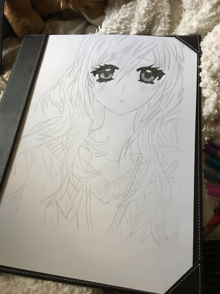 Chill Anime girl (update) EYESS :p by Cerise-M