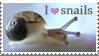 I heart snails Stamp