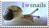 I heart snails Stamp by FamiliarOddlings