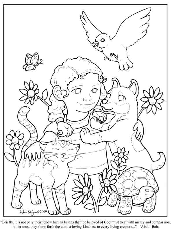 Coloring Page Of Being Filled With Jesus