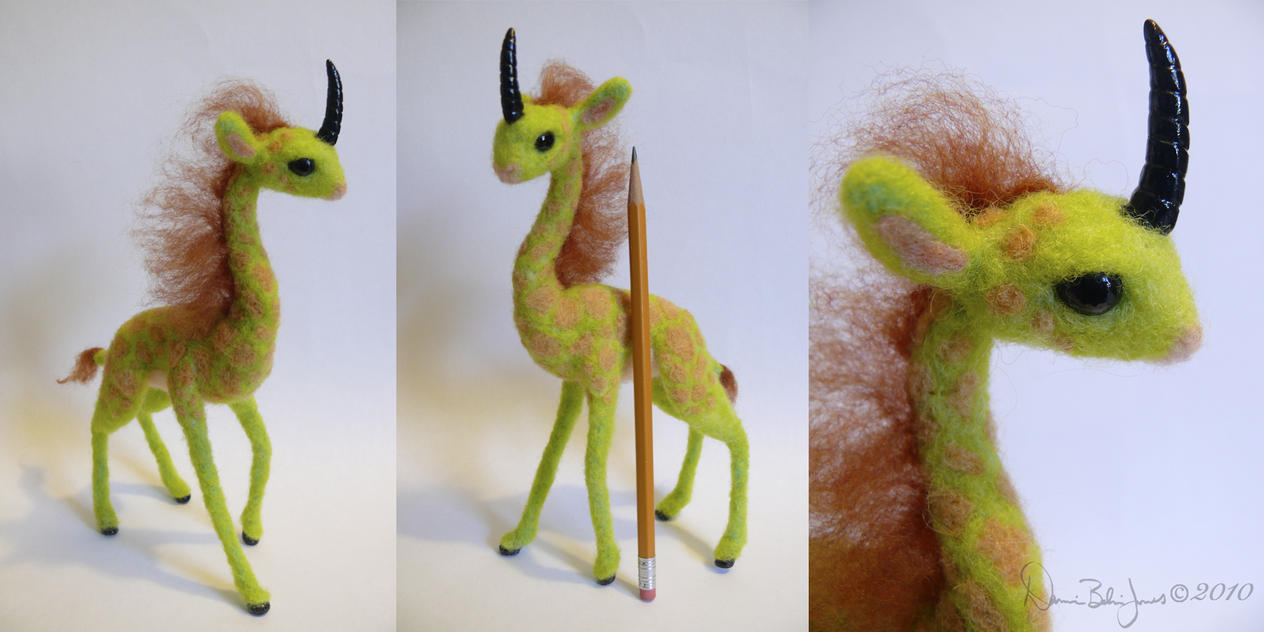 Felted Giraffe Kirin by FamiliarOddlings