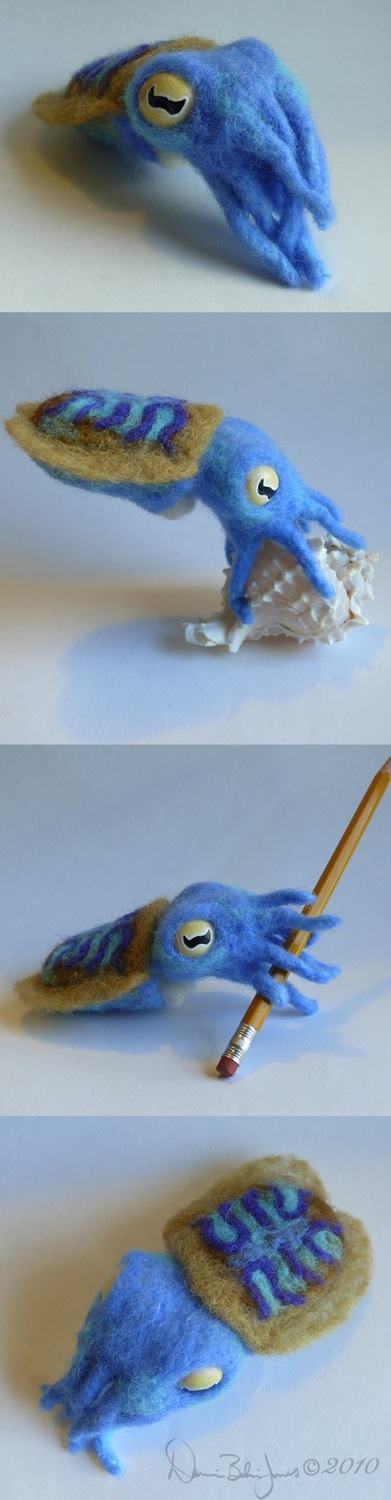 Blue Baby Cuttlefish by FamiliarOddlings