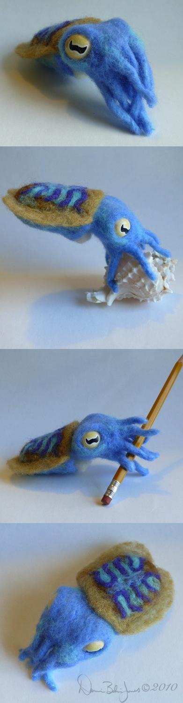 Blue Baby Cuttlefish by FamiliarOddlings