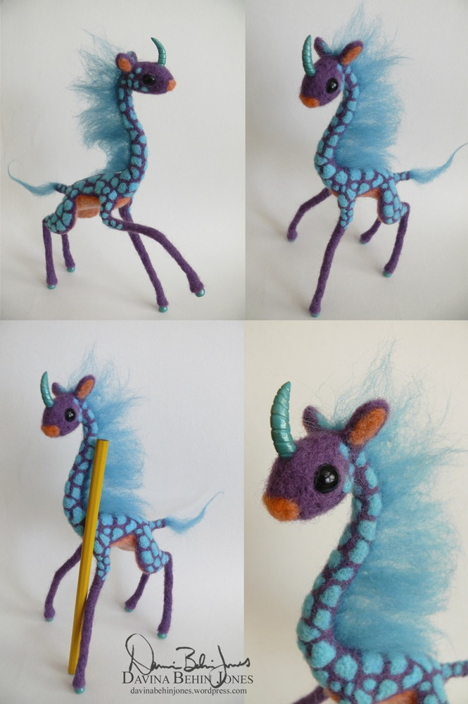 Purple Giraffe Kirin by FamiliarOddlings