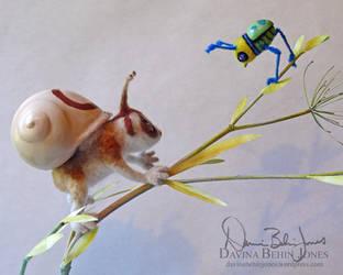 Lorisnail and Beetlebird by FamiliarOddlings