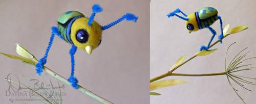 Felted Beetlebird by FamiliarOddlings