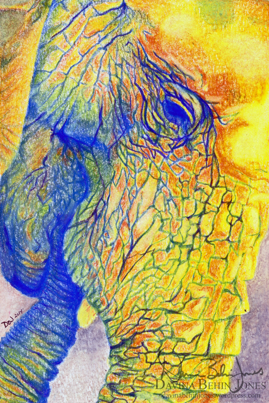 Colorful Elephant by FamiliarOddlings