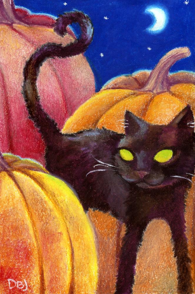 Pumpkin Cat by FamiliarOddlings