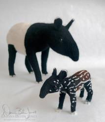 Mother and Calf Tapir