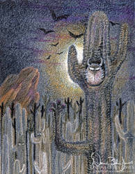 Spooky desert by FamiliarOddlings